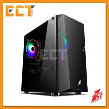 1STPLAYER Rainbow R4 Tempered Glass LED Strip M-ATX Gaming Casing / Chassis