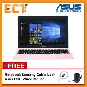 "Asus Vivobook E203M-AHFD018/411T Laptop (N4000 2.60Hz,500GB,4GB,Intel,11.6"",W10) - Pink/Grey"