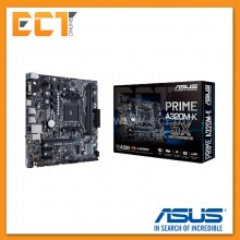 Asus Prime A320M-K AM4 Socket 4 PCI-E Slot Micro ATX Form Factor Motherboard