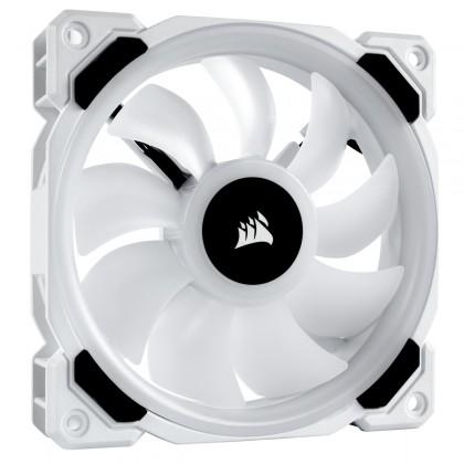 Corsair LL120 RGB 120mm Dual Light Loop White RGB LED PWM Fan — Triple Pack with Lighting Node PRO