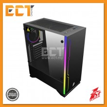 1STPLAYER Black Sir B6 Tempered Glass RGB Strip ATX Gaming Casing / Chassis