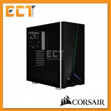 Corsair Carbide SPEC-06 RGB Tempered Glass Mid-Tower Gaming Case - Black/White