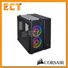 Corsair Crystal Series 280X RGB Tempered Glass Micro ATX PC Case - Black/White