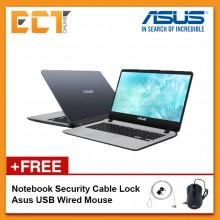 "Asus Vivobook A407U-ABV554T/569T Laptop (Pentium 4417U 2.30GHz,256GB,4GB,Intel, 14"",W10) - Grey/Gold"