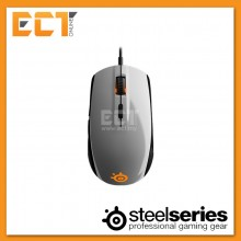 SteelSeries Rival 100 Illuminated 6-Button Optical Gaming Mouse - White/Alchemy Gold/Gaia Green