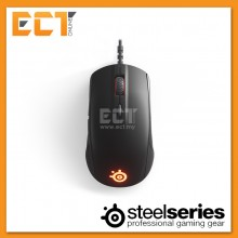 SteelSeries Rival 110 Universal Grip Competitive Gaming Mouse - Matte Black/Arctis White/Steel Gray