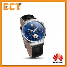 Huawei Stainless Steel Case with Genuine Leather Strap Smart Watch  (HUA-HWATCHG00B)