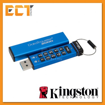 Kingston DataTraveler 2000 (Ideal when security is key) Encrypted Drives - 16GB/32GB/64GB