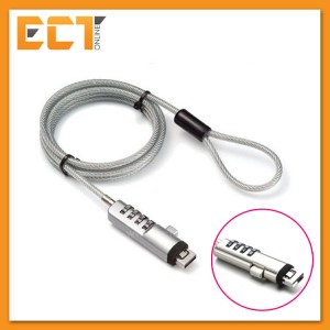 Universal USB 4 Digit Password Pure Steel Alloy Notebook Security Cable Lock (1.9M)