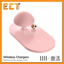 3Life 314 Mushroom Wireless Qi Fast Charging Pad with Light Lamp - Pink