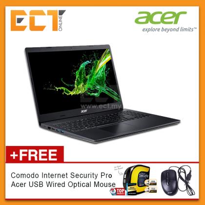 """Acer Aspire 3 A315-55G-537A Laptop (i5-8265U 3.90GHz,1TB,4GB,NVD MX230-2G,15.6"""" FHD,W10) - Black"""