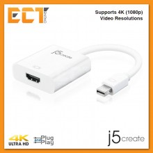 j5create JDA152 Mini DisplayPort to HDMI Adapter