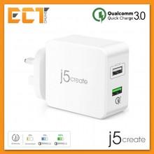 j5create JUP20 30W 2-Port USB QC 3.0 Super Charger