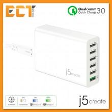 j5create JUP60 58W 6-Port USB QC 3.0 Super Charger