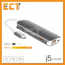 j5create JCD383 Type-C Multi Adapter to HDMI,LAN,SD,Micro SD,USB 3.1 Port
