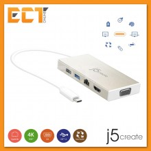 j5create JCD376 USB 3.1 Type-C Mini Dock to VGA,HDMI,LAN,USB Port