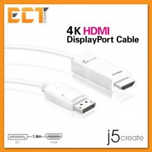 j5create JDC158 4K HDMI to DisplayPort Cable (1.8M)