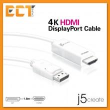 j5create JDC158 4K HDMI to DisplayPort Cable (1.8M)