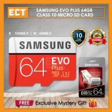 Samsung EVO Plus Class 10 64GB microSDHC Micro SD Card with Adapter (10 Years Warranty)