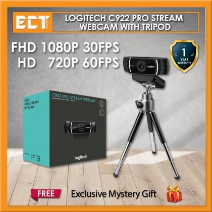 Logitech C922 Pro Stream Webcam with Tripod