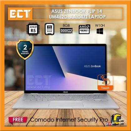 """Asus Zenbook Flip 14 UM462D-AAI047T Laptop (R5-3500U 3.70GHz,8G,256GB,14"""" FHD,Touch,W10) - Grey"""
