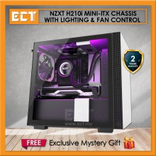 (Pre-Order) NZXT H210i Mini-ITX Chassis with Lighting and Fan Control - Black/White