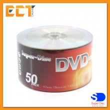 Super-Disc 4.7GB 1X-16X DVD-R Silver Disc (50 Pcs in Pack)