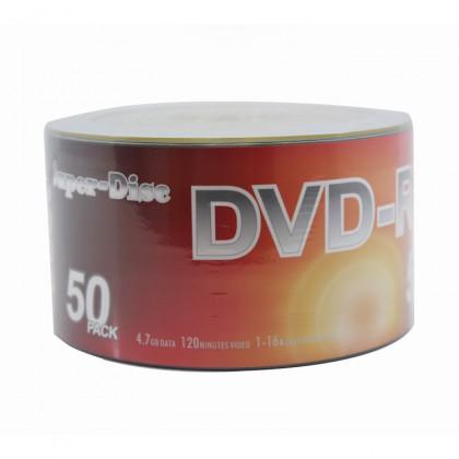 Super-Disc 4.7GB 1X-16X DVD-R Silver Disc (50 Pcs in Pack)