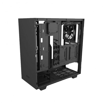 (Pre-Order) NZXT H510i Compact Mid-Tower with Lighting and Fan Control Chassis - Black/White