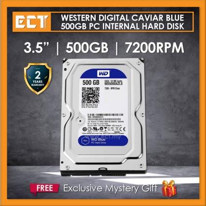 """Western Digital Caviar Blue 3.5"""" 500GB 7200RPM 32mb Sata III Internal Hard Disk Drive (WD5000AZLX)"""