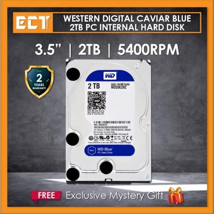 """Western Digital Caviar Blue 3.5"""" 2TB 5400RPM 256mb Sata III Internal Hard Disk Drive (WD20EZAZ)"""