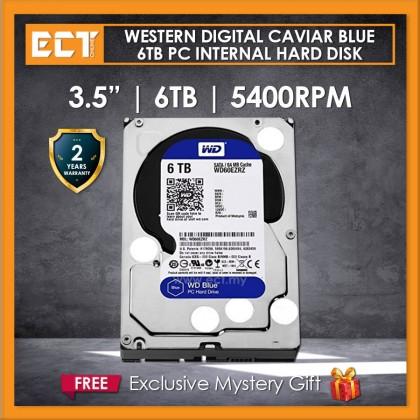 """Western Digital Caviar Blue 3.5"""" 6TB 5400RPM 64mb Sata III Internal Hard Disk Drive (WD60EZRZ)"""