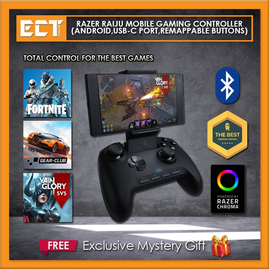 Razer Raiju Mobile Gaming Controller Bluetooth Wired Connection 4 Remappable Buttons Adjustable Phone Mount Mobile Pc Compatible 26 results for razer raiju for ps4 gaming controller. razer raiju mobile gaming controller bluetooth wired connection 4 remappable buttons adjustable phone mount mobile pc compatible