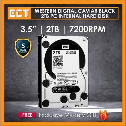 """Western Digital Caviar Black 3.5"""" 2TB 7200RPM 64mb Sata Internal Hard Disk Drive (WD2003FZEX)"""