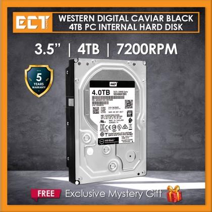 """Western Digital Caviar Black 3.5"""" 4TB 7200RPM 256mb Sata Internal Hard Disk Drive (WD4005FZBX)"""