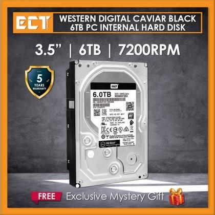 """Western Digital Caviar Black 3.5"""" 6TB 7200RPM 256mb Sata Internal Hard Disk Drive (WD6003FZBX)"""