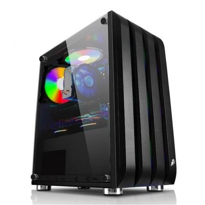 1STPLAYER Black Sir B2 RGB Tempered Glass M-ATX Gaming Casing/Chassis