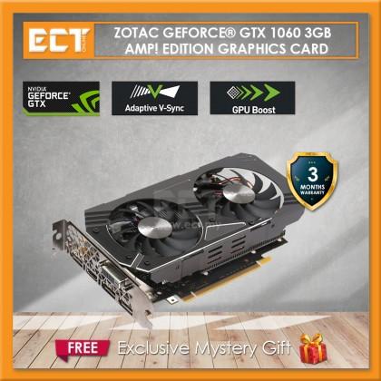 (Bulk Pack) ZOTAC GeForce GTX 1060 AMP! Edition 3GB GDDR5 192-Bit PCI-E Graphic Card (3 DP, 1 HDMI, 1 DVI)