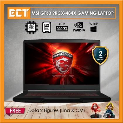 "MSI GF63 9RCX-484X Gaming Laptop (i5-9300H 4.10GHz,256GB,4GB,GTX1050TI-4G,15.6"" FHD,W10P)"