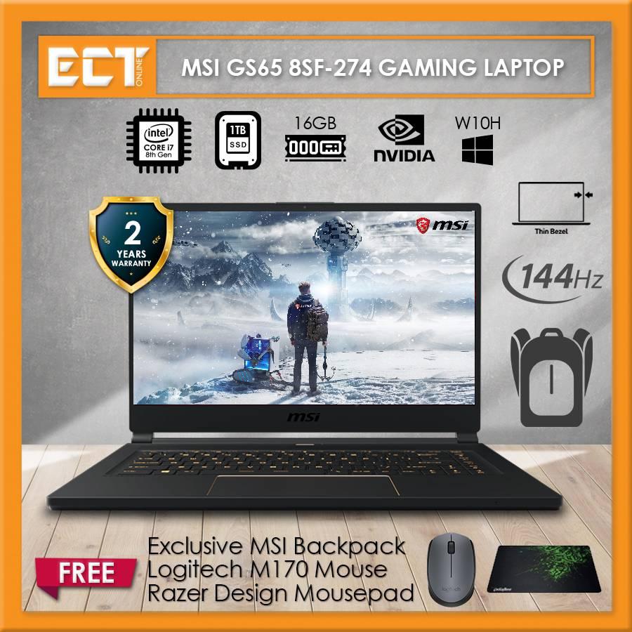 Msi Stealth Gs65 8sf 274 144hz Gaming Laptop I7 8750h 4 10ghz 1tb Ssd 16gb Rtx 2070 8gb 15 6 Fhd Ips W10