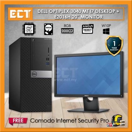 (Demo Set) Dell OptiPlex 3040 MT Desktop PC Full Package (i7-6700 4.0GHz,500GB,8GB,AMD R5 340X-2GB,W10P)