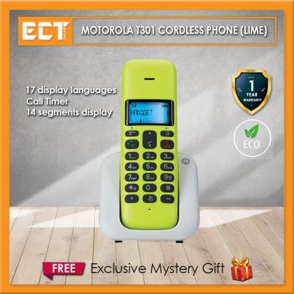 Motorola T301 Cordless Phone - Lime