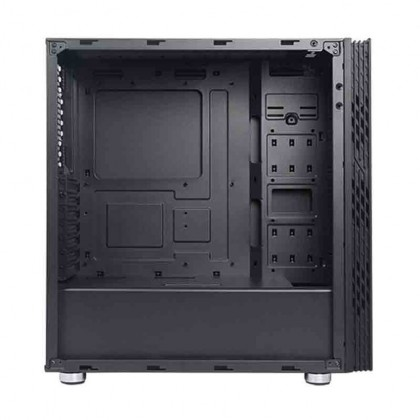 Segotep Fenix 01 Tempered Glass ATX Gaming Computer Casing Chassis with 2 RGB Fan - Black